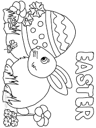 easter egg hunt coloring pages kids best coloring page