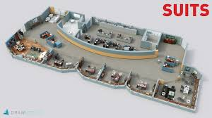 3d Floor Designs by Drawbotics Brings Tv Show Workplaces To Life As 3d Floor Plans