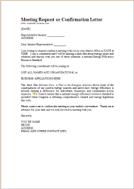 word meeting confirmation letter template document templates