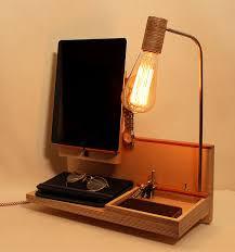 Desk Organizer Lamp Docking Station Charging Station Organizer Nightstand Lamp