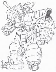 megazord coloring pages chuckbutt com