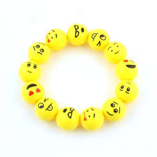 yellow bracelet images Trendy cute yellow cartoon emoji bracelet acrylic beads stretch jpg
