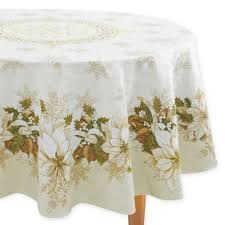 bed bath and beyond christmas table linens buy elegant christmas tablecloths from bed bath beyond