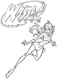 free printable winx club coloring pages kids wings