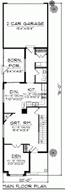 floor plans for narrow lots awesome small house plans for narrow lots part 2 trendy