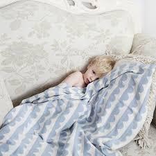 plaid coton pour canapé tricoté coton couverture bébé enfants lit jet couverture couverture