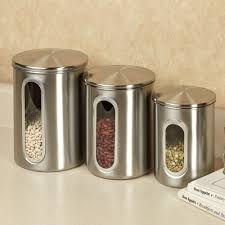 kitchen canisters stainless steel trendy kitchen canisters setshome design styling