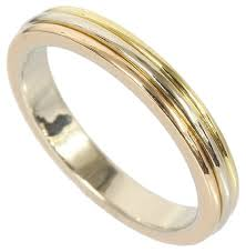 three wedding band cartier wedding band 18k three gold ring b4052266 on tradesy
