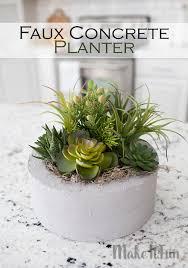 make it fun blog faux concrete planter