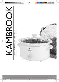 kambrook slow cooker ksc320 user guide manualsonline com