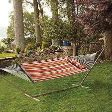 hammock with pillow in spice stripe bed bath u0026 beyond