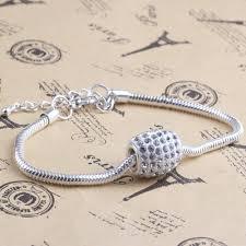 silver plated snake chain bracelet images Hot sale silver plated lobster clasp link bracelets fashion snake jpg