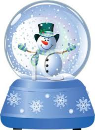 snow globe with snowman royalty free clip picture