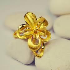 anting emas 24 karat cincin bunga 24k siola