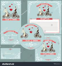 thanksgiving postcard template wedding design template set cartoon bride stock vector 209836765