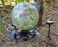 Cheap Gazing Balls Amazon Com Evergreen Enterprises Eg491557 Solar Gazing Ball