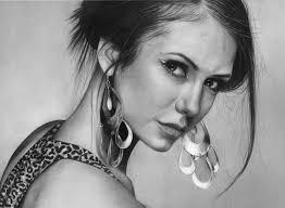 nina dobrev realistic pencil drawing a showcase of amazing photo