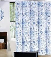 White On White Shower Curtain Amazon Com Cynthia Rowley Emma Medallion Damask Shower Curtain In