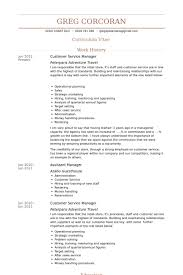 Resume Sample For Assistant Manager by Customer Service Manager Resume 9 Assistant Manager Resume Sample