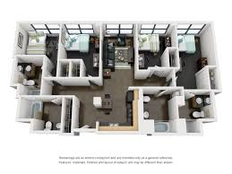 Jefferson Floor Plan by 4 Bed 4 Bath Student Apartment Near Uic Tailor Lofts
