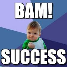 Success Meme - roxanne modafferi 盪 blog archive 盪 bam success