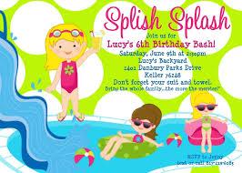 Backyard Birthday Party Invitations Birthday Pool Party Invitations Theruntime Com