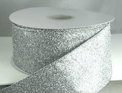 silver glitter ribbon christmas ribbon velvet and specialty