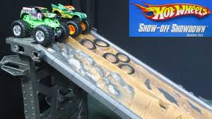 best monster truck show wheels monster jam show off showdown action set 2 lane