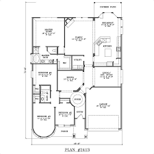 new one story 4 bedroom house floor plans style home design fancy