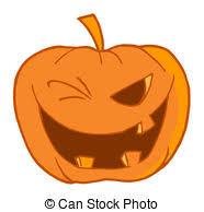 halloween pumpkin coloring outline toothy vector