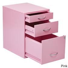 Pink Filing Cabinet Locking Storage Drawer And Silver Handles File Cabinet Free
