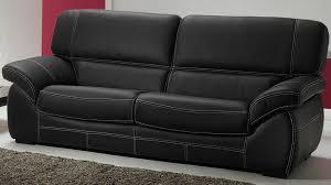 salon cuir 5 places noir pas cher canapé 3 2