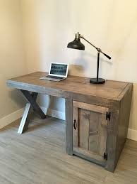 custom desk x legs cupboard rusticmeadows industrial design