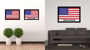 Interior Design Gifts American Dream Usa Flag Patriotic Office Wall Home Decor