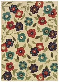 5x8 Indoor Outdoor Rug by Floral Outdoor Rugs Roselawnlutheran