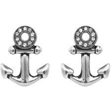 anchor earrings controse jewelry sparkling eye anchor earrings