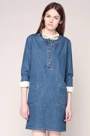 female lab dip denim dress 3 4 sleeves isa womens 2304 77 24