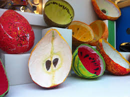 Cool Fruit Bowls by Papier Mâché Fruits I Will Never Do Paper Mâché In Class But