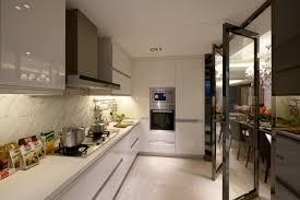 modern minimalist modern minimalist kitchen decoration glass partition interior design