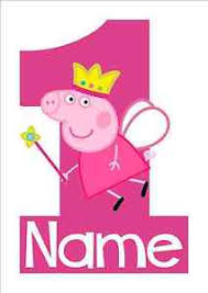 peppa pig birthday iron on transfer peppa pig 1st birthday size 16x10cm 2nd 3rd