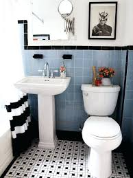 Damask Bathroom Accessories Black N White Bathroom Ideas Adding Some Greenery Even Faux One