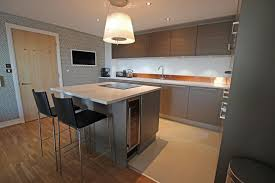 Small Kitchen With Reflective Surfaces Spectacular Lwk Kitchens Gallery