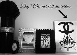 Chandelier Room Decor Diy Room Decor Chanel Chandelier Canvas Pinterest