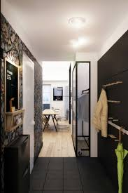 Corridor Kitchen Designs Apartments Small Kitchen Design With Balck And White Color And