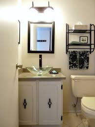 glass bowl sink ideas with white vanity for half bathroom design