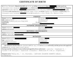 translating a birth certificate from spanish to english template