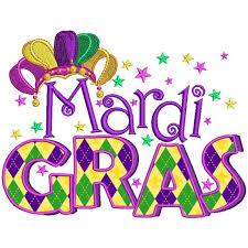 mardi gras hat gras banner jester hat applique machine embroidery design digitized