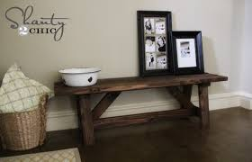 entryway table and bench diy how to build a rustic bench gnh lumber co