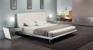 Modern Platform Bed Queen Zina Queen Modern Platform Bed 9016q