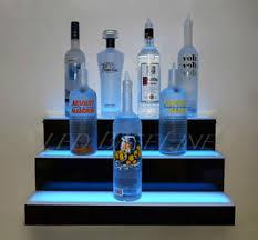 led lighted bar shelves 36 led lighted shelf 3 tier wall mounted home bar liquor bottle